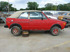 """1985 Volkswagen Cabriolet Convertible 13"""" X 5-1/2"""" Steel Wheel with 6 Oval Holes"""
