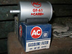 nos AC Delco GF 61 Fuel filter 854583 corvette pontiac tri power chevy buick 421