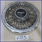 "83 84 85 86 87 88 FORD THUNDERBIRD 14"" WIRE TYPE HUBCAP HUB CAP GOOD USED 829"