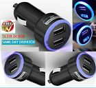 DOUBLE USB 12V LED IN CAR MICRO CHARGER ADAPTER PLUG FOR IPHONE 5 5c 5s 6+