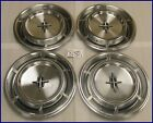"70 71 72 73 LINCOLN TOWN CAR CONTINENTAL 15"" HUBCAPS HUB CAPS GOOD USED OEM 676"