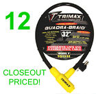 "CLOSEOUT! 12 NEW TRIMAX MOTORCYCLE/BICYCLE/ATV CABLE LOCK,32"" INCH LENGTH"