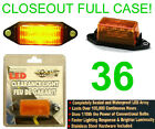 CLOSEOUT! 36 NEW AMBER SUBMERSIBLE LED CLEARANCE LIGHTS,TRAILER RUNNING LIGHT