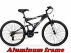 "MOUNTAIN BIKE MEN'S ALUMINUM FRAME SHIMANO 26"" Full Suspension Black Bicycle"