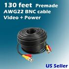 130 ft AWG22 Premade Siamese CCTV Video + Power Cable (BNC + DC cable)