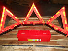 3 PIECE  D.O.T. EMERGENCY WARNING SAFETY TRIANGLES REFLECTOR KIT FOR HOTSHOT