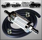 Toyota Celica 1.6 GT RA4 TA4 77-81 Chrome Fuel Filter 0.6cm Petrol Pipe & Clips