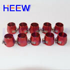AN - 4 AN4 Fuel Hose Clamp Finisher HEX-4 Finishers Aluminum 10PCS Red