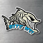 Bite Me Angry Fish sticker quality water & fade proof 7 year vinyl boat fishing