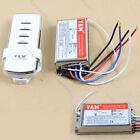 2 Port Way Light Lamp Wireless Digital Wall Switch Splitter Box + Remote Control