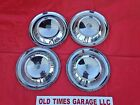 "1954 54 PLYMOUTH ALL MODEL 15"" HUBCAPS HUB CAPS GOOD USED SET OF 4 MOPAR"