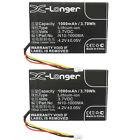 2pc 3.7V Battery Fits Opticon PHL-1300 OPL-9714 OPL-9715 OPL-9815 Pocket Term