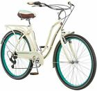 26 Schwinn Fairhaven Women's 7-Speed Cruiser Bike, Cream