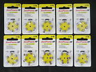 (Pack of 60) Size A10  Zinc-Air Hearing Aid Batteries 10 DHA10 - EXP 2017