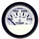 "Faria Euro White 2"" Water Temperature Gauge (100-250 DegreeF)"