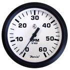 "Faria Euro White 4"" Tachometer - 6,000 RPM (Gas - Inboard & I/O)"