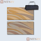 MMI Reversible Patio Mat - 8x12 ft. - Brown-Gold Swirl - Durable Awning RV - NEW