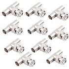 10 PCS New BNC 1 Male To 2 Femal T Splitter Connectors Adapter For CCTV Cameras