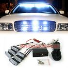 18 LED White Car Emergency Hazard Strobe Flash Warning Light For Dash Grille