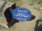 FORD  SALES AND SERVICE 2 SIDED HANG Metal Display FOMOCO  COOL GT40  CYCLONE