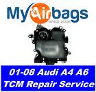 2008 AUDI A4, A6 TRANSMISSION CONTROL MODULE TCM REPAIR PN:01J927156