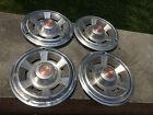 """set of (4) OEM vintage 14"""" Pontiac PMD hubcaps wheel covers"""