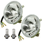 2 HEADLIGHTS w/HALOGEN BULBS Fits YAMAHA WARRIOR 350 YFM350X 1993 1994 1995