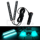 Ice Blue 2x 12 LED Car SUV Interior Light Trim Atmosphere Panel Neon Lamp Strip