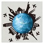 11.8in Luminous Moon Earth Wall Decals Sticker Wall Clock DIY Wall Colck Art