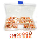 80pcs Open Barrel Wire Crimp Copper Ring Terminal LugS Assortment Set 10A -100A