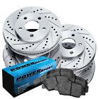 Brake Rotors [FULL KIT] POWERSPORT DRILL/SLOT & PAD-Ford F-150 2010-11 6 Lug