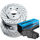 Brake Rotors [Rear Kit] POWERSPORT *DRILLED ONLY* + CERAMIC PADS BP02905