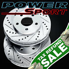 Brake Rotors [2 Rear] POWERSPORT *DRILLED & SLOTTED* DISC BF04305