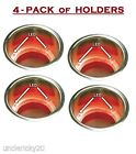 SeaChoice 4-Pack Stainless Steel Recessed Drink Cup Holders Red LED Lighted