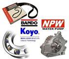 BANDO TIMING BELT + KOYO TENSIONER + NPW WATER PUMP - HONDA CRX 1.6 B16A1 B16A2