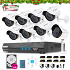 HDMI AHD DVR Home Security Camera System 8 CH 720P 2.0MP  Indoor/Outdoor 1TB HDD
