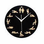 24Hours Sex Clock /Sexual Position Clock / Novelty Adult Only Wall Clock 711