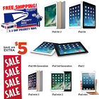 Apple iPad 2,3,4,Air or mini 16GB/32GB/64GB/128GB Pro-Refurbished WiFi Tablet