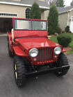 1947 Willys red Willys Jeep