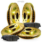 [FULL KIT] Gold Drilled Slotted Rotors and Ceramic Pads BGCC.20014.02