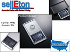 Pocket Scale / 0.1 g to 1,000 g / Portable LCD Display