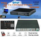 8CH 4 In 1 Hybrid DVR NVR 1080P 720P 960H D1 Support ANALOG, HD TVI, AHD 2TB HDD