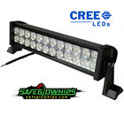 "12"" Double Row LED Light Bar 72 Watt w/ 3w CREE LED's Combo Beam - SafeGlo Whips"