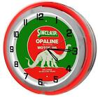"Sinclair Gasoline 18"" Red Double Neon Clock from Redeye Laserworks"