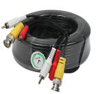 2x100ft Black Audio Video Power Cable CCTV Security Camera BNC RCA DVR Wire Cord