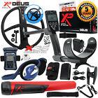 XP Deus Metal Detector w/ MI-6 Pinpointer, Backphone, Remote, X35 Coil & more