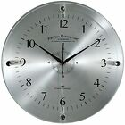FirsTime Steel Whisper Wall Clock Round Modern Glass Metal Quiet Home Indoor New
