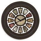 FirsTime Industrial Chic 29' Wall Clock Round Colorful Home Rustic Decor Room