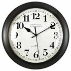 """FirsTime Slim Bronze Wall Clock Round Black Home Decor Indoor 11"""" Mounted Number"""