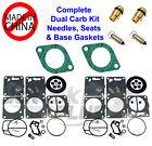 SeaDoo Dual Mikuni Carburetor Rebuild Kit & Needle Seat & Carb Gasket 657 XP 93